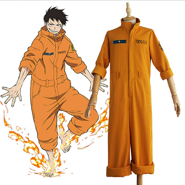 Inspired by Fire Force Anime Cosplay Costumes Japanese Cosplay Suits Leotard / Onesie For Men's Women's