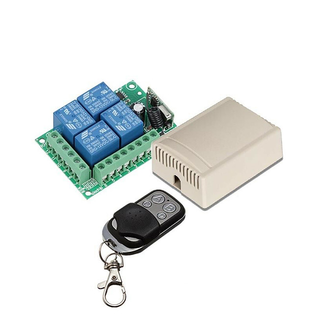 433Mhz Wireless Remote Control Switch DC 12V 4ch relay Receiver and Transmitter