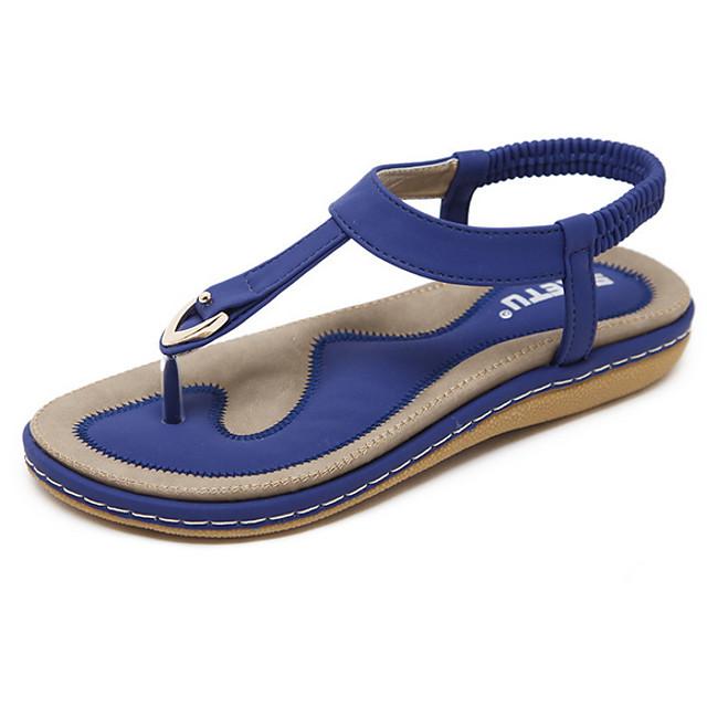 Women's Sandals Flat Sandal Summer Flat Heel Open Toe Daily PU Almond / Black / Pink
