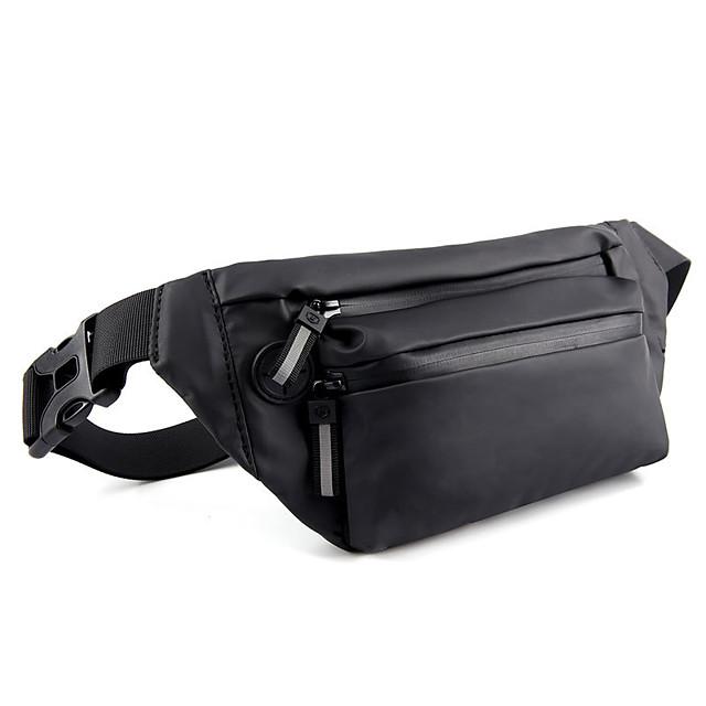 Running Belt Fanny Pack Belt Pouch / Belt Bag for Running Hiking Outdoor Exercise Traveling Sports Bag Reflective Adjustable Waterproof PU Men's Women's Running Bag Adults