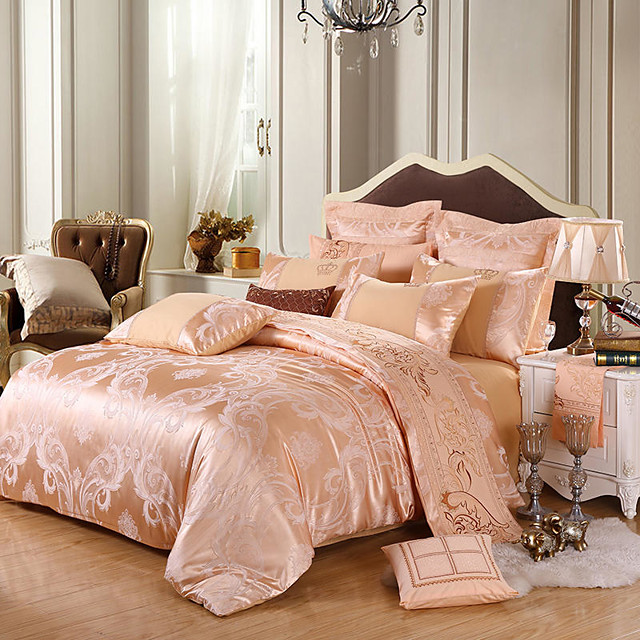 Silk Satin Jacquard four-piece Spring and Summer European wedding bedding 1.5 m / 1.8 m / 2 M plus