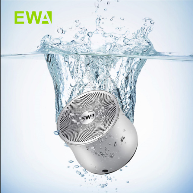 EWA A2Pro Metal Bluetooth Speaker Waterproof Powerful Sound and Bass Built-in Battery Outdoor/Camp/Bike/Motor Riding Use