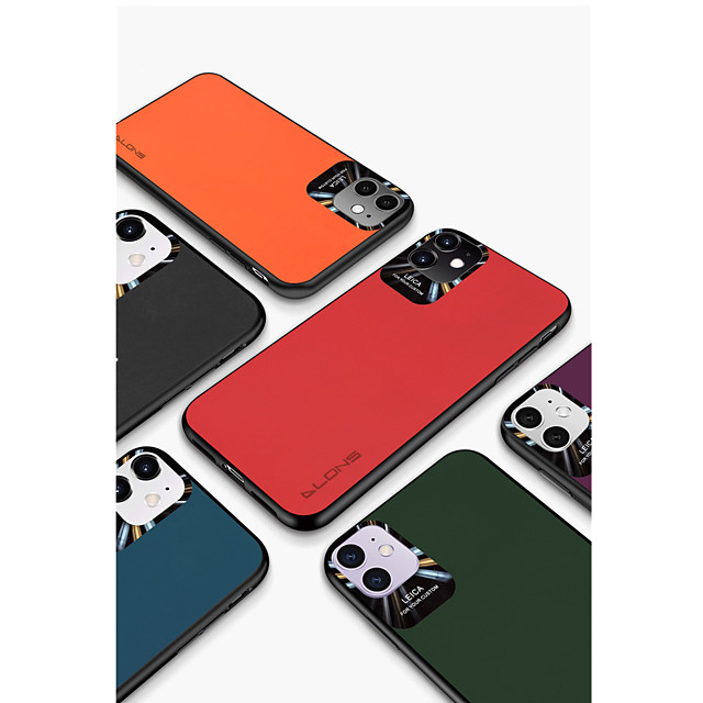 Case For Apple iPhone 7/8/7P/8P/X/XR/XS/XA Max/11/11Pro/11Pro Max/SE 2020 Shockproof Back Cover Solid Colored PU Leather / TPU / Plastic