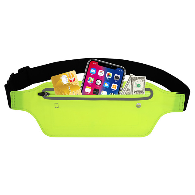 Running Belt Fanny Pack Belt Pouch / Belt Bag for Running Hiking Outdoor Exercise Traveling Sports Bag Reflective Adjustable Waterproof Tactel Lycra® Men's Women's Running Bag Adults