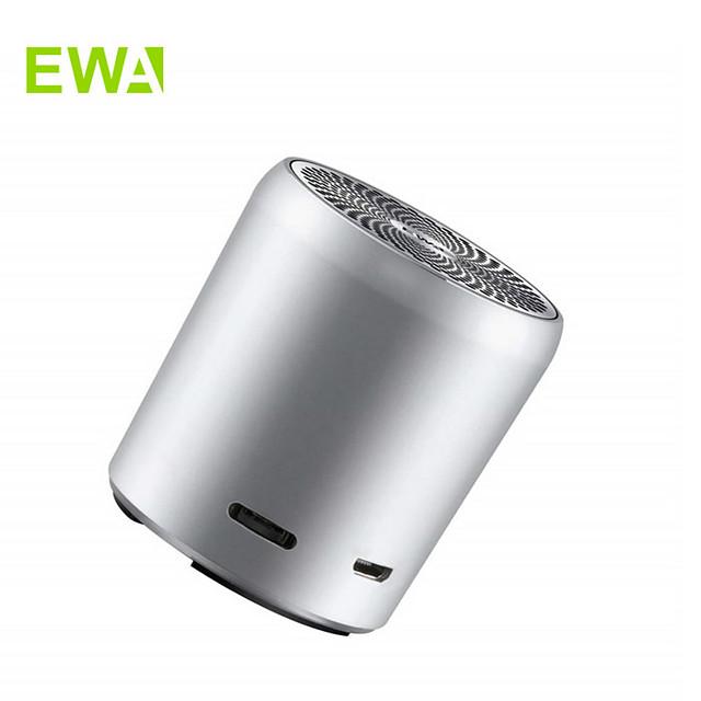EWA A107s Mini Bluetooth Speaker True Wireless Stereo(TWS) Enhance Bass Radiator Portable Speaker Bluetooth 5.0 IPX7 Waterproof Mini Size