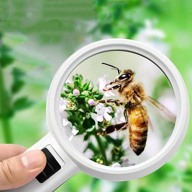 Magnifier Magnifying Glass Set LED Handheld High Magnification with Lighting Function 20,30 Magnifiers / Magnifier Glasses Reading Inspection 110 mm ABS+PC Outdoor Indoor Seniors