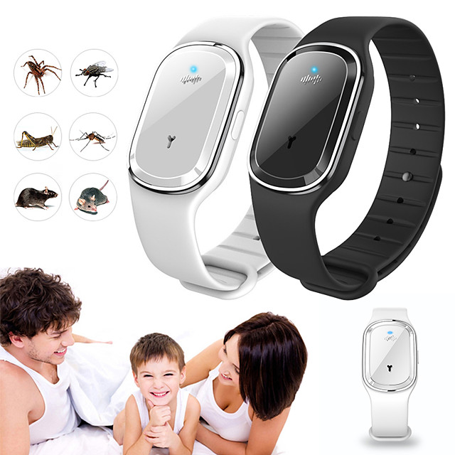 Ultrasonic Natural Mosquito Repellent Bracelet Waterproof Capsule Pest Insect Bugs Anti Mosquito Insect Bands Outdoor Kids Adult