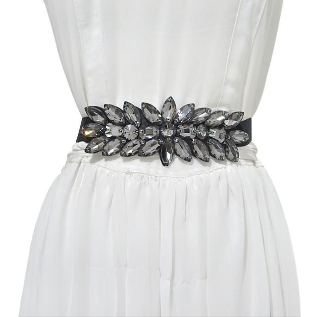Metalic / Elastic Wedding / Party / Evening Sash With Belt / Crystals / Rhinestones Women's Sashes