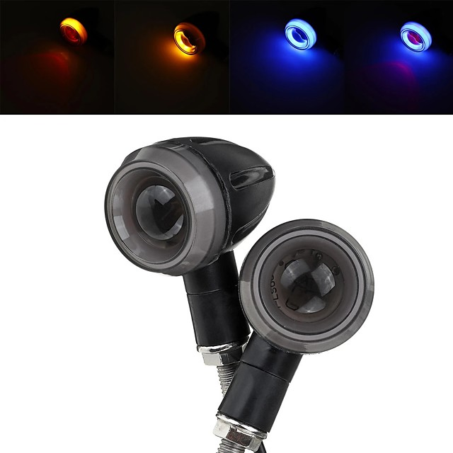 2pc Motorcycle Motorbike Turn Signal Lights LED Indicator Blinker Handle Bar End