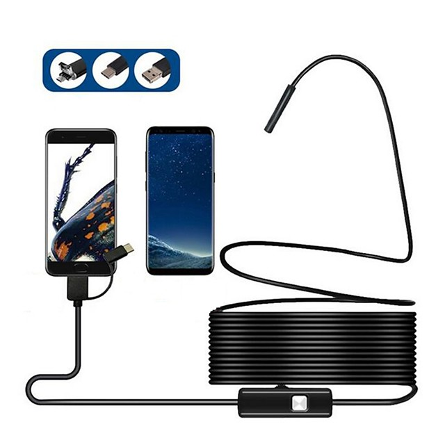 8MM 3in1 TYPE-C USB Android mobile phone endoscope 2 meters 5 meters 2 million mobile phone endoscope instrument hard line 3.5 meters