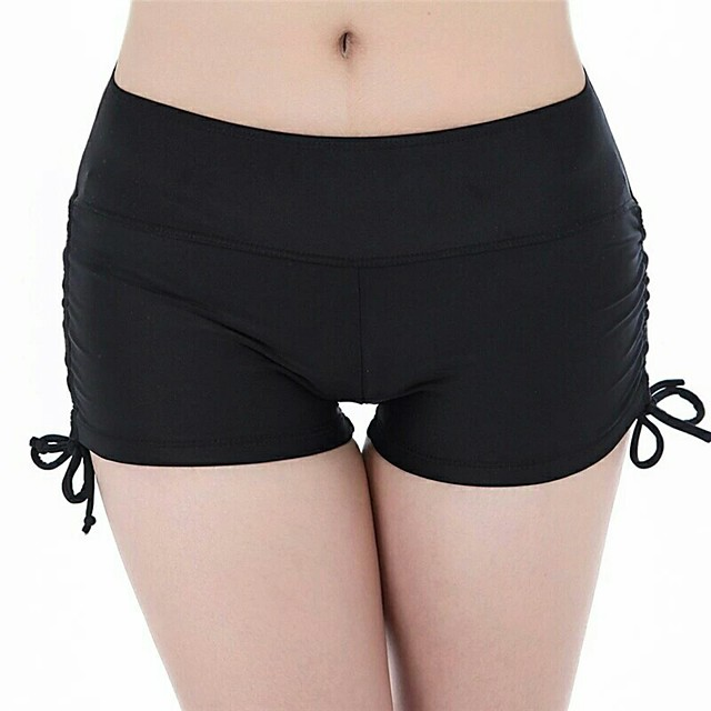 Women's Swim Shorts Bottoms Breathable Quick Dry Limits Bacteria Swimming Diving Solid Colored Summer / High Elasticity