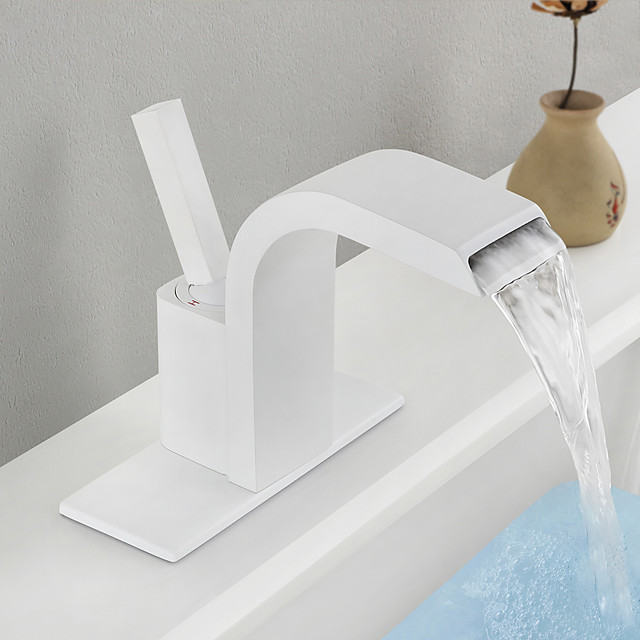 Bathroom Sink Faucet - Standard Painted Finishes Centerset Single Handle One HoleBath Taps