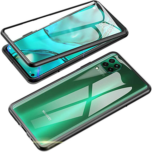 Magnetic Case For Huawei Nova 7i / 7Pro / 7SE /7 / 6 / 6SE / 5T / 5i Pro /5Z / P40 / P40 Pro / P40Lite / Mate 30 / 30 Pro / 30 Lite  Adsorption Metal Double Sided Glass Cover Protective Case