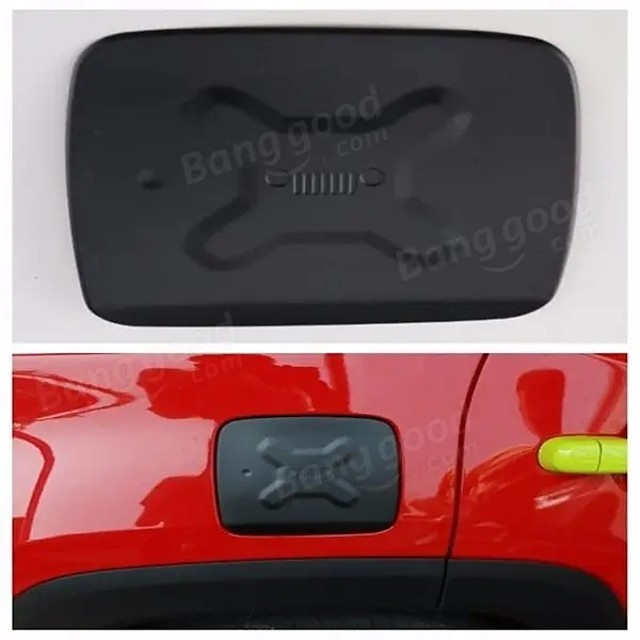 Aluminum Fuel Filler Door Cover Gas Tank Cap for Jeep Renegade 2015-2016
