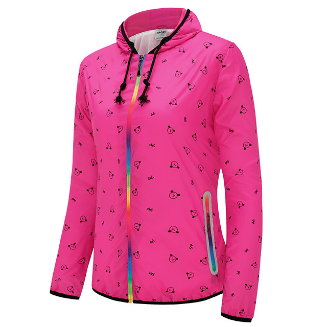 Women's Hiking Skin Jacket Hiking Jacket Summer Outdoor Windproof Sunscreen Breathable Quick Dry Jacket Top Single Slider Running Hunting Fishing Fuchsia / Green / Blue / Camping / Hiking / Caving