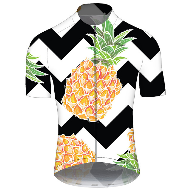 21Grams Women's Short Sleeve Cycling Jersey Spandex Polyester Black / White Floral Botanical Bike Jersey Top Mountain Bike MTB Road Bike Cycling UV Resistant Breathable Quick Dry Sports Clothing