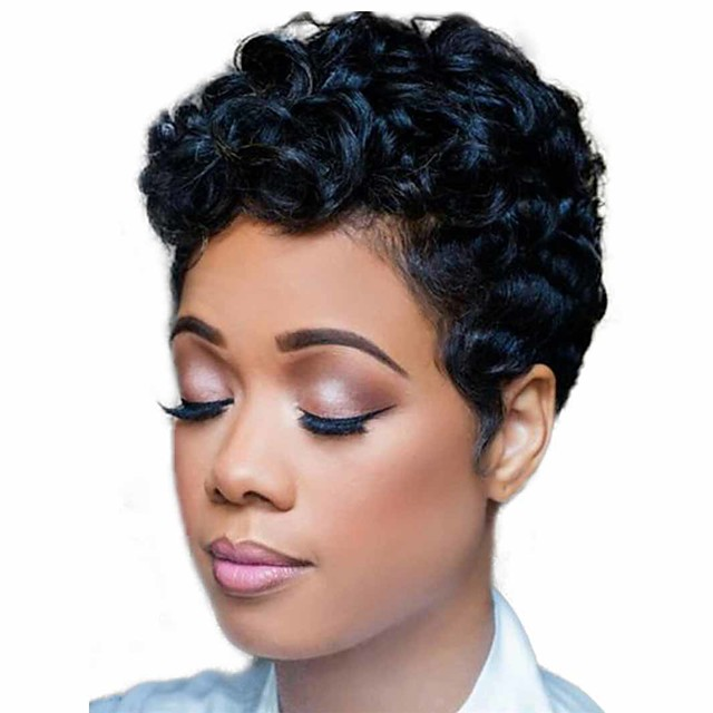 Synthetic Wig Matte Deep Curly Short Bob Wig Short Natural Black Synthetic Hair 6 inch Women's Exquisite curling Fluffy Black