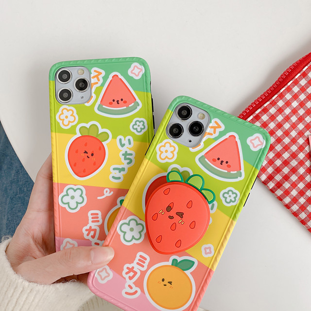 Case For Apple iPhone 11 / iPhone 11 Pro / iPhone 11 Pro Max Shockproof / with Stand Back Cover Cartoon TPU