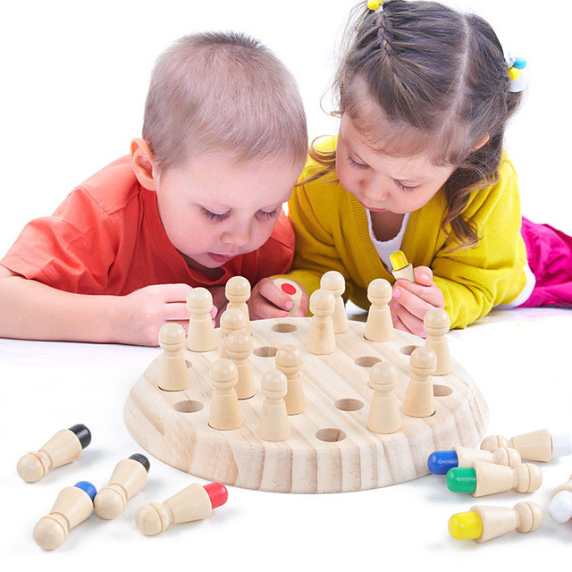 Board Game Educational Toy Wooden Memory Match Stick Chess Game Wooden Parent-Child Interaction Family Interaction Home Entertainment Kids Boys and Girls Toys Gifts