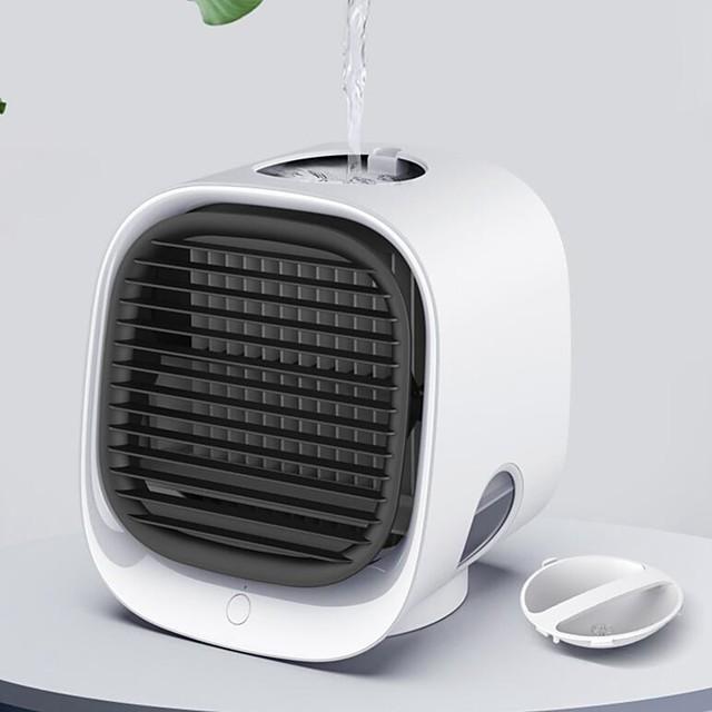 Portable Fan Mini Air Conditioner Fan Humidifiers Air Cooler Fans USB Cooler Table Fan For Office Refrigerating Device