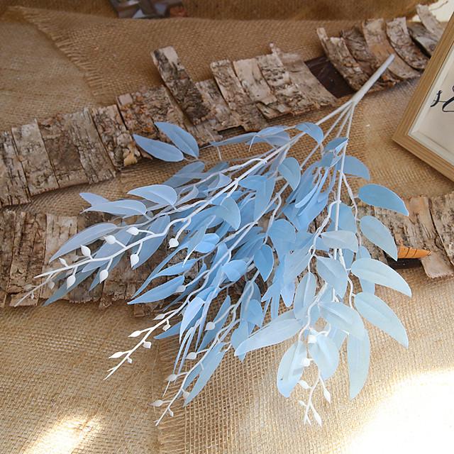 60cm 5 Fork Bundle Willow Leaf Wedding Decoration Artificial Flower Leaf Material 1 Stick