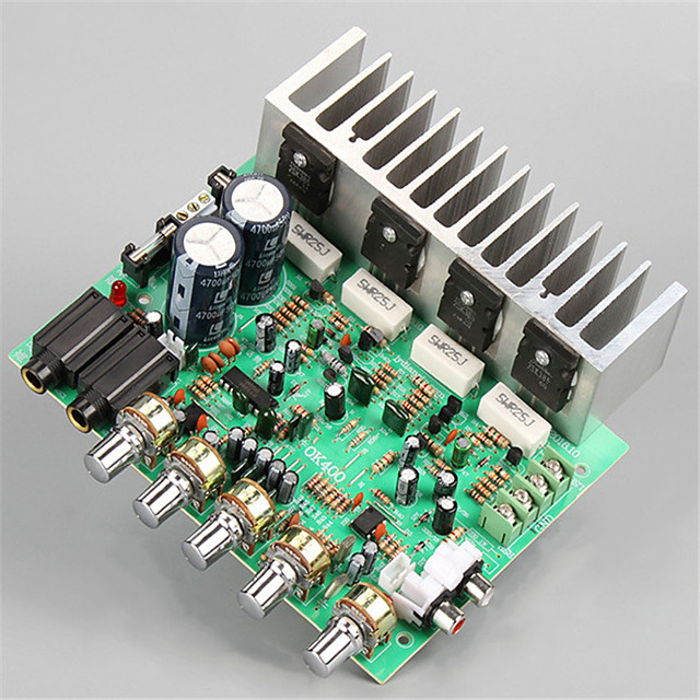 Amplifier Board Digital Audio Stereo Hi-Fi 22-26 V 250+250 2.0 Reverb Power Amplifier Adapters 10-20 Hz 90dB for Car Home Theater Speakers DIY