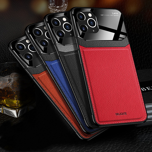 Case For Apple iPhone 7/8/7P/8P/X/XS/XR/XS Max/11/11 Pro/11 Pro Max/SE 2020 Shockproof Back Cover Solid Colored PU Leather / TPU