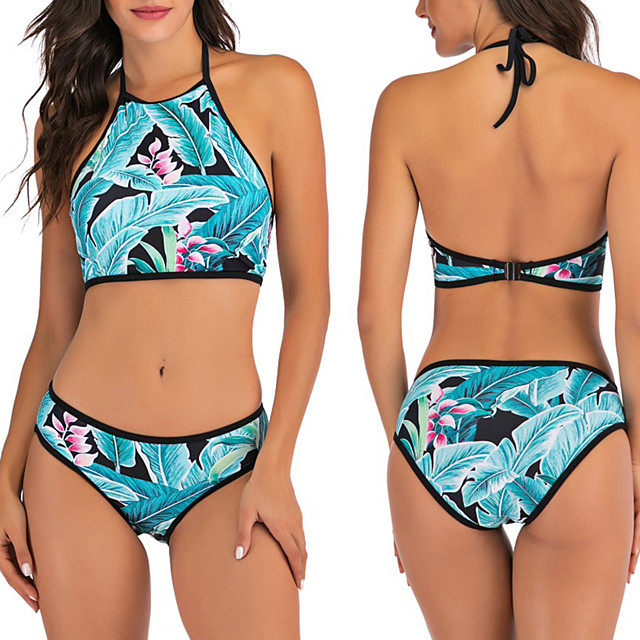 Women's Two Piece Swimsuit Swimwear Breathable Quick Dry Sleeveless 2-Piece - Swimming Water Sports Summer / Stretchy
