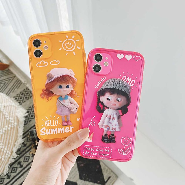 Shockproof TPU Girl Case for Apple iPhone 11 Pro Max X XR XS Max 8 Plus 7 Plus 6 Plus SE Back Cover