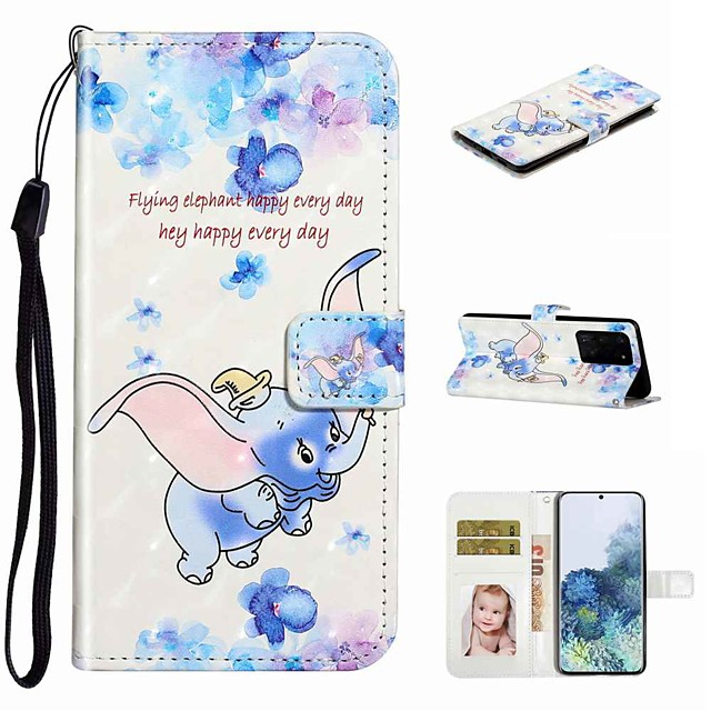 Case For Samsung Galaxy S20 / Galaxy S20 Plus / Galaxy S20 Ultra Wallet / Card Holder / with Stand Full Body Cases Dumbo PU Leather / TPU for Galaxy A51 / A71 / A80 / A70 / A50 / A30S / A20