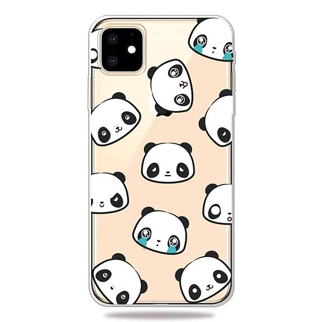Case For Apple iPhone 11/11 Pro/11 Pro Max/XS/XR/XS Max/8 Plus/7 Plus/6S Plus/8/7/6/6s/SE/5/5S Transparent Pattern Back Cover Facial Panda Soft TPU