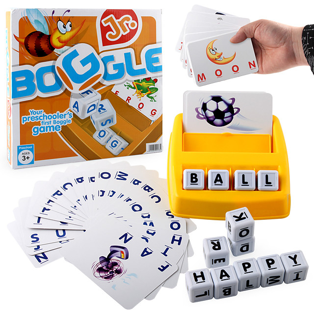 Educational Flash Card Matching Letter Game Picture Word Matching Game Educational Toy Letter Spelling Letter Reading Game Improve Memory Plastics Kid's Preschool Cute Kits Non Toxic 30 pcs 3-6 Y