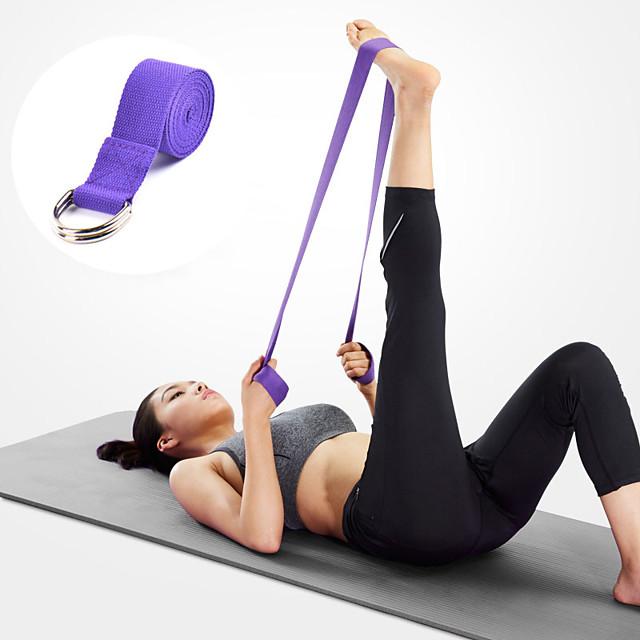 Yoga Strap 1 pcs Sports Polyester Yoga Pilates Bikram Stretch Eco-friendly Durable Adjustable D-Ring Buckle Physical Therapy Stretching Improve Flexibility For Men Women Waist & Back Leg Abdomen
