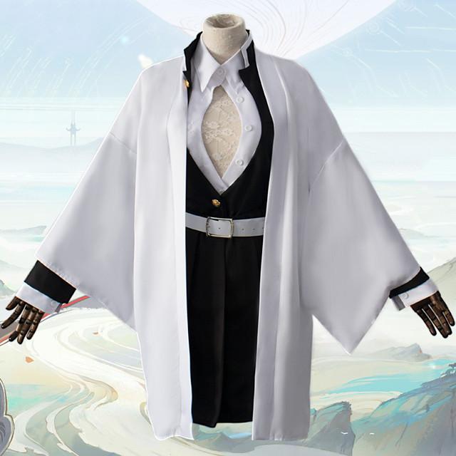 Inspired by Demon Slayer: Kimetsu no Yaiba Kanroji Mitsuri Anime Cosplay Costumes Japanese Cosplay Suits Coat Blouse Top For Men's / Skirt / Socks / Waist Belt