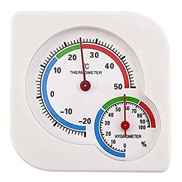 Indoor Thermometer HygrometerHigh Precision Temperature Humidity Meter Thermometer Monitorfor Household Baby RoomGreenhouse/Office/Living Room