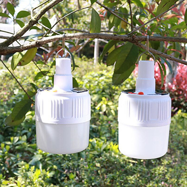 Solar Charging Novelty Lighting Bulbs Daily Portable Night Market Lights Street Lights LED Home Power Emergency Bulb Lights