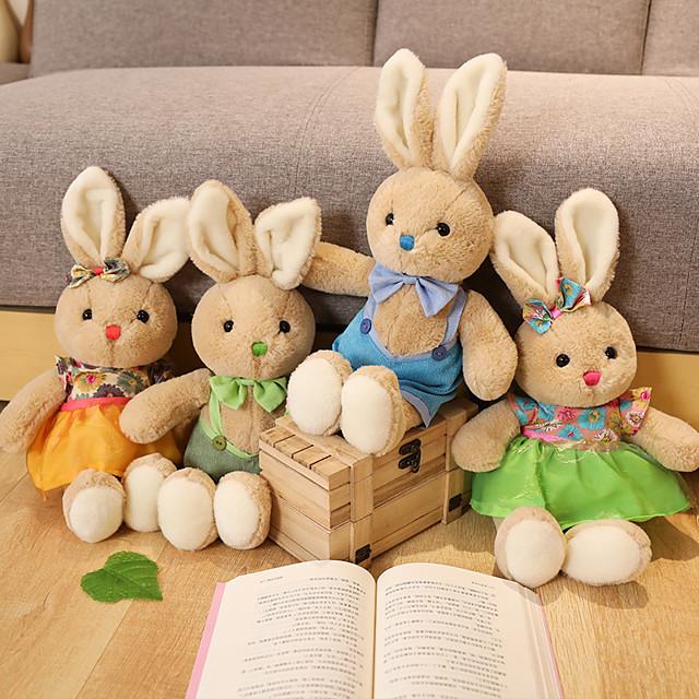 1 pcs Stuffed Animal Pillow Plush Doll Sofa Toys Plush Toys Plush Dolls Stuffed Animal Plush Toy Rabbit Cartoon Comfortable Realistic Soothing PP Plush Imaginative Play, Stocking, Great Birthday
