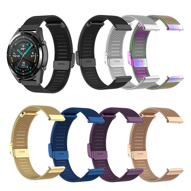 Watch Band for Huawei Watch GT / Huawei Watch GT2 46mm / Huawei Watch GT 2e Huawei Milanese Loop / Modern Buckle / Business Band Stainless Steel Wrist Strap