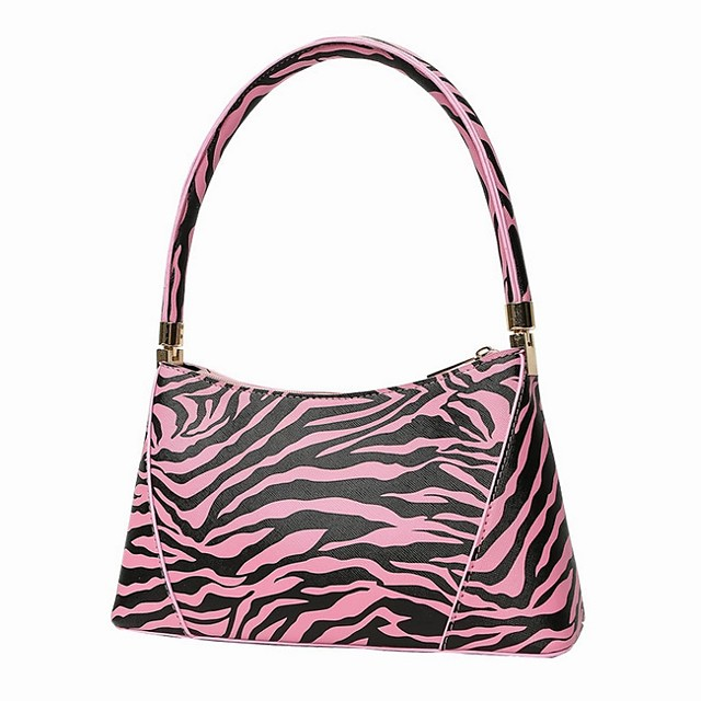 Women's Zipper PU Leather Top Handle Bag Leather Bags Animal Blue / Red / Fuchsia