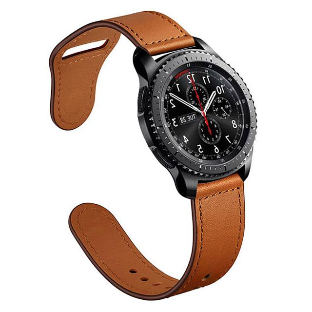 Genuine leather Watchbands 22mm Samsung galaxy watch 46mm R800 /gear S3/ Gear2 R380/ Gear2 Neo R381/ Live R382 Quick Release strapFor Watch accessorie