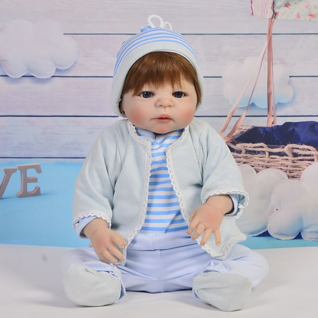 Reborn Baby Dolls Clothes Reborn Doll Accesories Cotton Fabric for 22-24 Inch Reborn Doll Not Include Reborn Doll Family Soft Pure Handmade Boys' 5 pcs