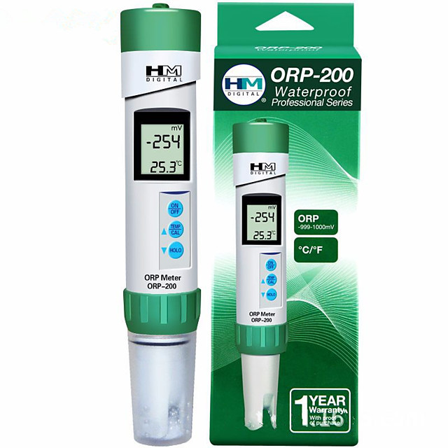 HM Digital ORP Meter Tester Detector Monitor Automatic Calibration Datahold Waterproof ORP-200