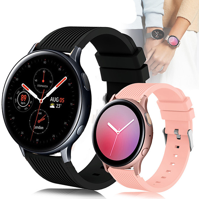 Sport Silicone Wrist Strap Watch Band for Samsung Galaxy Watch 42mm / Galaxy Watch Active 2 / Active R500 / Gear S2 Classic / Gear Sport Replaceable Bracelet Wristband