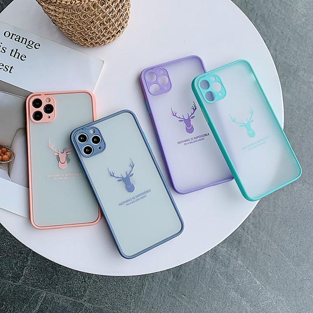 Cartoon Deer Matte Phone Case For iPhone 11 11Pro 11 Pro Max XS X XR SE 2020 8Plus  7Plus 7  8 6 6S Plus Original Luxury Shockproof Cover Accessory