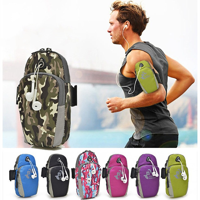 Running Belt Fanny Pack Belt Pouch / Belt Bag for Running Hiking Outdoor Exercise Traveling Sports Bag Adjustable Waterproof Portable Nylon Men's Women's Running Bag Adults