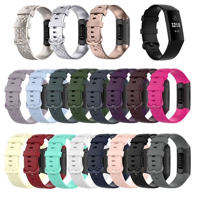 Smartwatch Band for Fitbit Charge 4/ Fitbit charge3 / Fitbit Charge3 SE Fitbit Sport Band Fashion Soft Silicone Wrist Strap