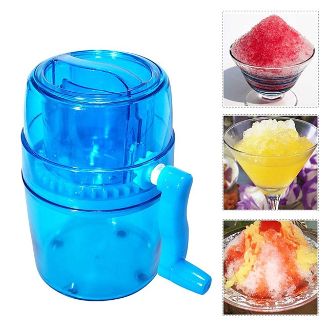 Handle DIY Ice Crusher Manual Multifunction Portable Slush Maker Home Snow Cone Smoothie Block Making Machine Shaver