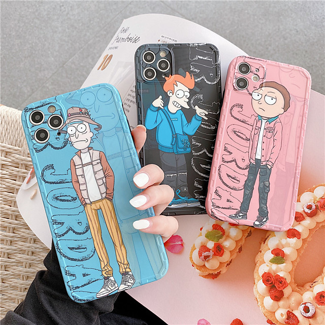 Phone Cases for Iphone 11pro Max se 2020  Case Rick and Morty Anime Soft Cortex Phone Case Apple Iphone XSmax/XR/8/7 Case Phone Bags