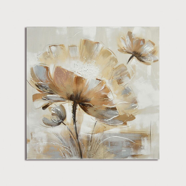 Hand Painted Canvas Oilpainting Abstract Flower Home Decoration with Frame Painting Ready to Hang With Stretched Frame