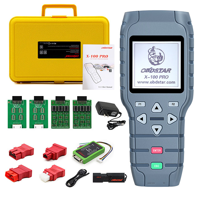 OBDSTAR X100 PRO Auto key programmer (CDE) With EEPROM Adapter IMMO Odometer Correction OBD Software Tool